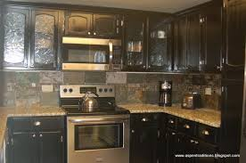 Crackle Paint Kitchen Cabinets Aspen Traditions Condo Cabinets New Modern Black Using Reclaim