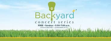 Backyard Series Backyard Concert Series