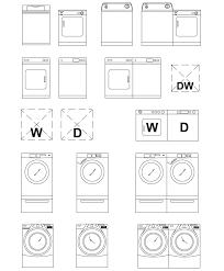 Autocad For Kitchen Design by Archblocks Autocad Washer U0026 Dryer Block Symbols Drafting