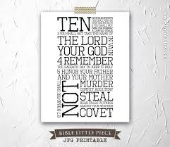 diy printable exodus 20 ten commandments inspirational prayer