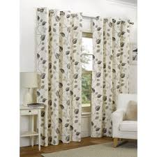leaves eyelet lined curtains taupe 228 x 228cm at wilko com