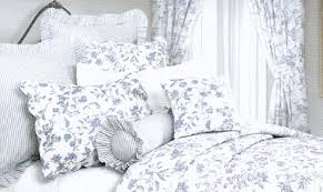 Ideas For Toile Quilt Design Waverly Blue Toile Bedding Brighton Blue Toile By C F Luxury