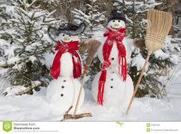 Christmas Yard Decoration Images Snowman Couple In Winter Christmas Outdoor Decoration With Sno