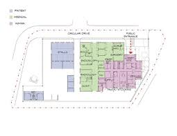 floor plan design for small and large equine hospitals business
