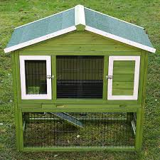 Rabbit Hutch With Detachable Run Rabbit And Guinea Pig Hutches
