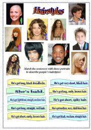 esl hairstyles hairstyles worksheet hairstyles ideas