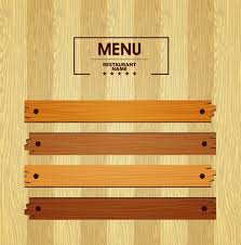 menu template menu template bright wooden pattern decoration free vector in