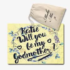 Will You Be My Godparent Invitation Card Will You Be My Godmother Personalised Jigsaw Puzzle