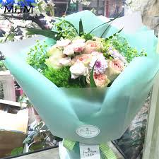 cello wrapping paper 10pcs hot sale fashion clear mist bouquets flowers packaging