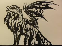tribal wolf tattoo number 2 by zenny lavasani on deviantart
