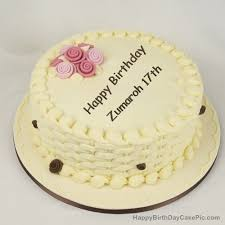 happy birthday cake for girls for zumaroh 17th