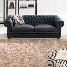 Sofa King by Chesterfield Sofa Leather 2 Seater Black King Natuzzi