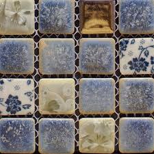 Porcelain Tile Backsplash Kitchen For Walls Blue And White Glazed - Porcelain backsplash
