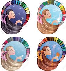 Colour Scheme by Girls Hair Skin Tone Coloured In Four Seasonal Colour Scheme