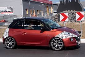 opel modified spied modified opel adam prototype hints at opc version