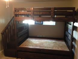 Bunk Beds  Loft Bed With Stairs And Desk Full Loft Bed With - Full bunk bed with stairs