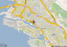 map of oakland oakland california map