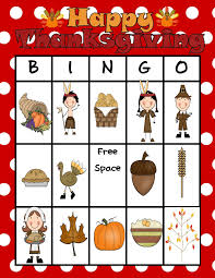 thanksgiving bingo free at home in first grade