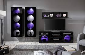 Wohnzimmerschrank Ohne Glas Großartig Anbauwand Schwarz Hochglanz 5 1 Die Moderne Wohnwand