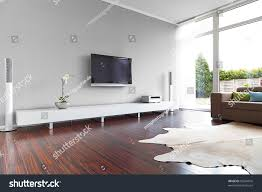 modern livingroom tv hifi equipment stock photo 99244016
