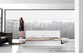 White Gloss Furniture Opal White Gloss Platform Bed Buy From Nova Interiors