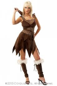Exotic Halloween Costumes 5 Pc Brown Leopard Cave Costume Amiclubwear Costume