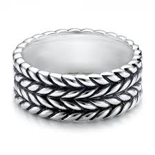 braided band men s sterling silver braided band 101206