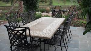 slate outdoor dining table awesome 63 round slate outdoor patio dining table stone oceane on