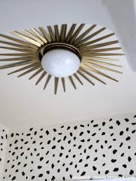 How To Install A Flush Mount Ceiling Light Install A Starburst Mirror Frame Around A Flush Mount Ceiling