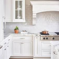 White Kitchen Tile Backsplash Light Gray Mini Subway Tile Backsplash Design Ideas