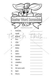 word scramble easter teacher resources worksheets and