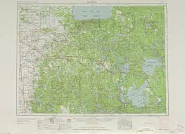 Topographic Map United States by Bemidji Topographic Map Sheet United States 1954 Full Size