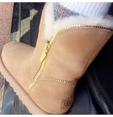 ugg s zip boots shoes gold zipper ugg boots blouse wheretoget