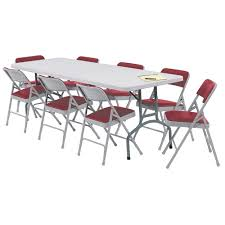 lightweight folding table and chairs national public seating bt3000 series blow molded plastic folding