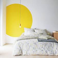 deco chambre jaune rond peinture jaune deco chambre cotemaison blanc des vosges des