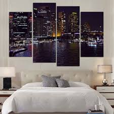 home decor shops sydney canvas painting 4 piece canvas art sydney australia night hd