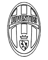 print juventus logo soccer coloring pages download juventus