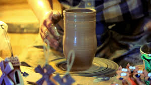How To Make Clay Vases By Hand The Clay Vessel Created Via The Electric Potter Machine By Hand