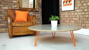 round hairpin coffee table flote round hairpin leg coffee table