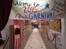 homecoming week hallway decorations carnival circus theme fall