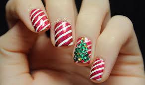 candy cane stripes u0026 3d christmas tree nail art youtube