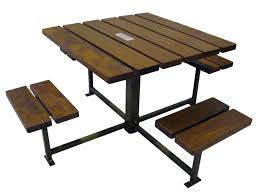 Recycled Plastic Furniture Contemporary Picnic Table Steel Recycled Plastic Ipe