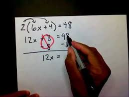 solving two step equations w distributive property mathwithmoon