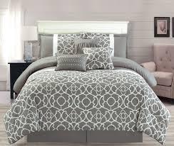 Grey Comforter Sets King 7 Piece Ladera Gray Comforter Set