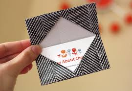 How To Make A Card Envelope - how to make an origami business card holder how about orange