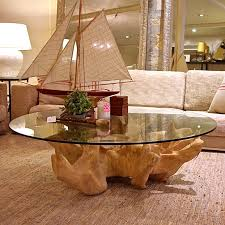 beautiful coffee tables made from tree trunks on home decorating