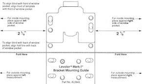 Levelor Blind Parts Blind Alley Levolor Mark I Blinds Installation Instructions