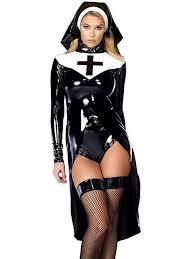 Usa Halloween Costumes Nun Costume Vinyl Leather Cosplay Halloween Costume U2013 Virtual