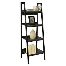 Bookcase Black Wood Interior Inspiring Interior Storage Ideas With Exciting Leaning