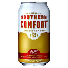 Mix Southern Comfort With Southern Comfort And Cola 4 5 375ml Can Ready To Drink Premix